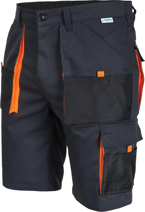Шорты Sara Workwear 11011, черный/oранжевый, XLS
