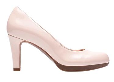 Clarks 26129067 Adriel Viola Pimps Dusty Pink Patent 37