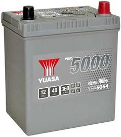 Аккумулятор Yuasa, 12 В, 40 Ач, 360 а