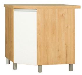 Apakšējais virtuves skapītis Bodzio Monia KMoNDK-BI/DSC, balta/ozola, 520x760x820 mm