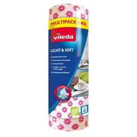 Vileda Rubber Light & Soft in roll 40 pcs ( white with flowers)