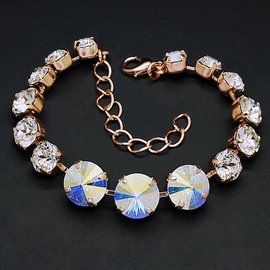 Diamond Sky Bracelet Rainbow II Aurore Boreale With Crystals From Swarovski