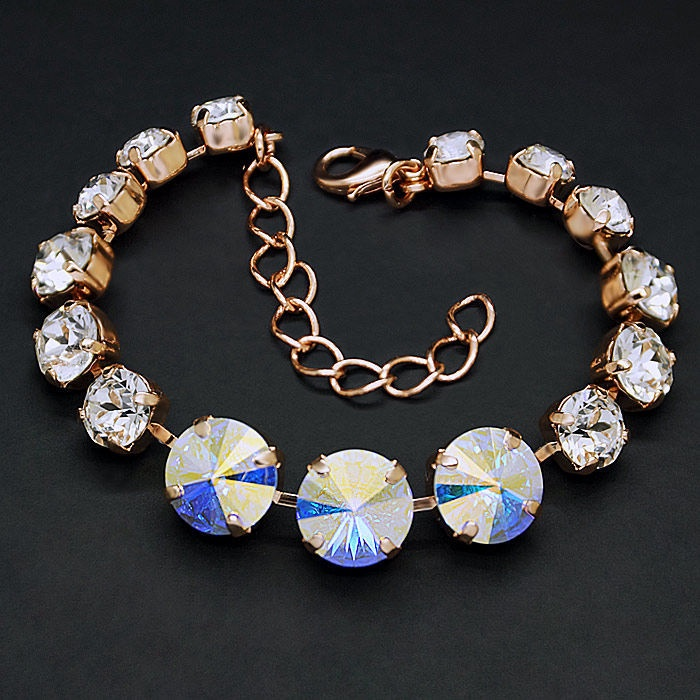 Diamond Sky Bracelet Rainbow II Aurore Boreale With Crystals From Swarovski