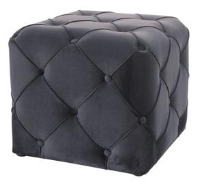 Пуф Signal Meble Modern Aviva K Velvet, черный, 50 см x 50 см x 45 см