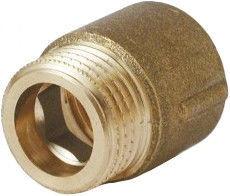"""Effebi Extension Piece with External Thread Brass 1/2"""" 100mm"""