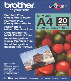 Fotopaber Brother Photo Paper A4 260 Glossy 20 Pages