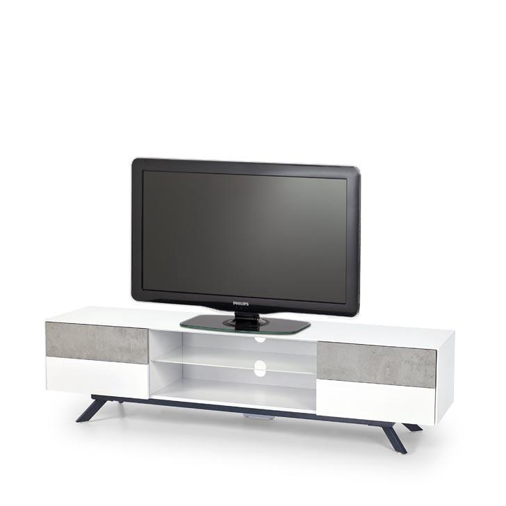TV galds Halmar Stonno RTV-1, balta/pelēka, 1800x420x470 mm