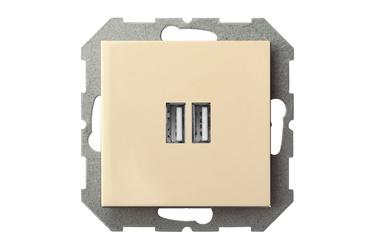 USB kroviklis Liregus Epsilon, smėlio spalvos, be rėmelio