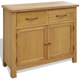 Шкаф VLX Solid Oak Wood, коричневый, 90 см x 33.5 см x 83 см