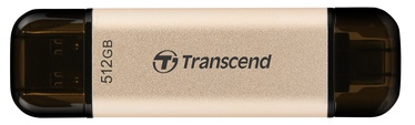USB zibatmiņa Transcend JetFlash 930C, zelta, 512 GB