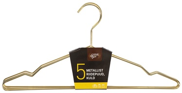 Home4you Metal Cloth Hangers 5pcs Gold