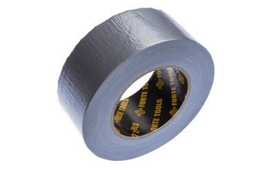 Lipnioji audinio juosta Forte Tools, 50 m x 50 mm, sidabrinė
