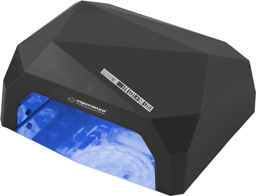 UV LED lempa nagams Esperanza Onyx EBN002 Black