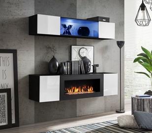 ASM Fly N3 Living Room Wall Unit Set White/Black