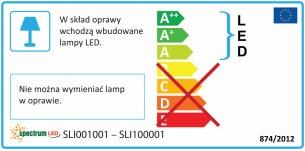 Светильник Spectrum Lamp Technic 7W Oval White