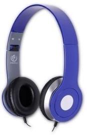 Ausinės Rebeltec City Headphone w/ Mic Blue