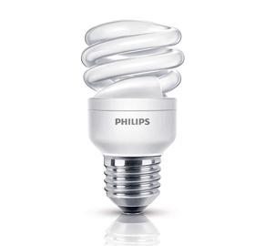Kompaktinė liuminescencinė lempa Philips T3, 8W, E27, 2700K, 400lm