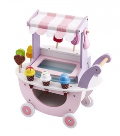 4IQ Wooden Ice Cream Cart With Ice Cream Shop On Wheels