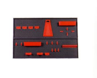 Įrankių stovas Okko, 800 x 250 x 80 mm, 26 dalių