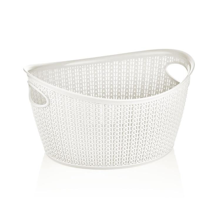Krepšelis Knit M-069, 9 l, plastikas, baltas