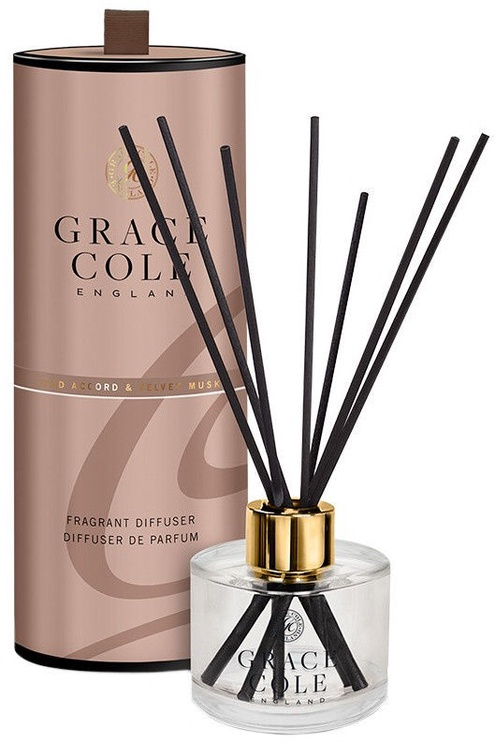 Grace Cole Reed Fragrant Diffuser 200ml Oud Accord & Velvet Musk