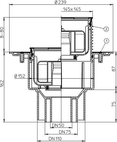 H&L DN50/75/110 Primus Trap 138x138