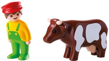 Playmobil 1-2-3 Farmer With Cow 6972