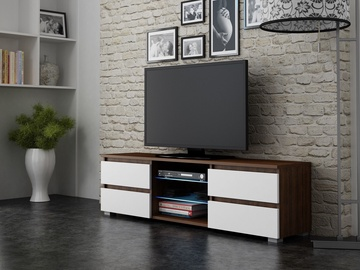 Pro Meble Milano 150 With Light Walnut/White