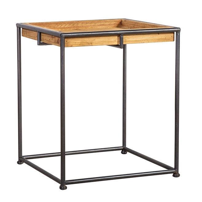 Sidetable Met La.Home4you Ferro Side Table Metal Wood