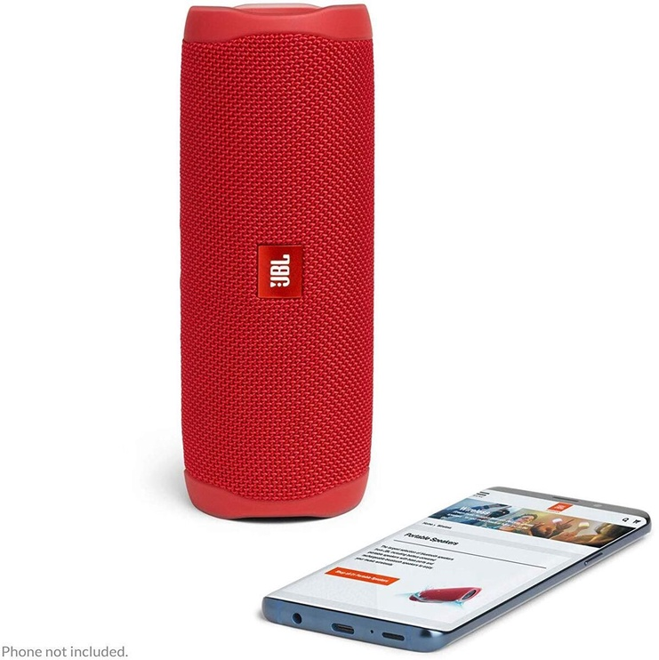 Belaidė kolonėlė JBL Flip 5 Red, 20 W