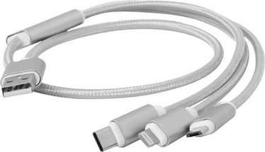 Cablexpert USB 3-in-1 Charging Cable CC-USB2-AM31-1M Silver