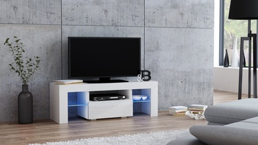TV staliukas Pro Meble Milano 110 With Light White, 1100x350x450 mm