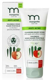 MARGARITA ANTI ACNE Sejas tīrīšanas maska-skrubis ar ābolu un vītolu ekstraktiem 75ml