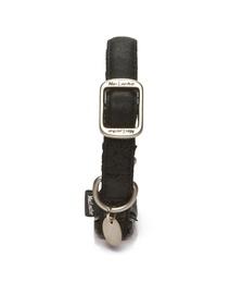 Kaklasiksna MacLeather ādas 35-50x2cm, melna