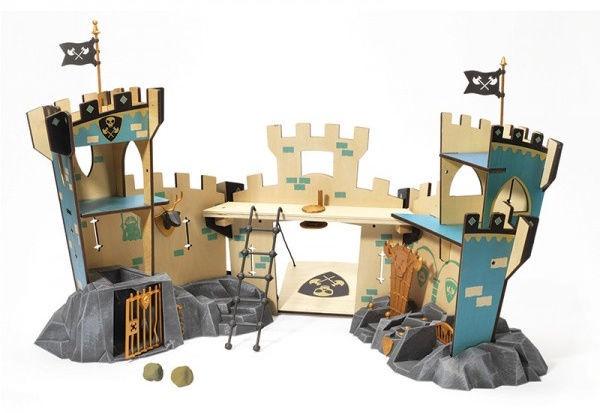 Djeco Arty Toys Knights Castle On Rock Set
