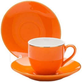 Mayer & Boch Cup Set 4pcs Orange 8cl 24753