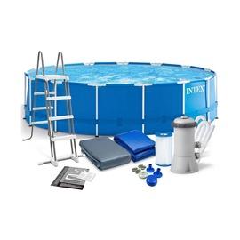 Bassein Intex Metal Fram Pool Set 28242NP, sinine, 4570x1220 mm, 16805 l
