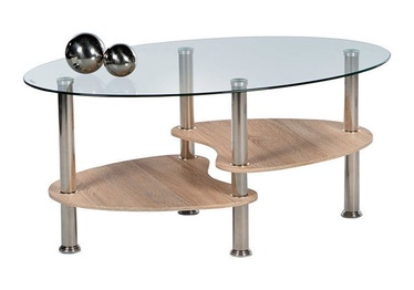 Kafijas galdiņš Black Red White Panty Oak, 900x550x420 mm