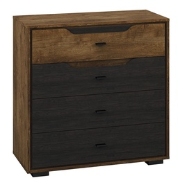 ML Meble Shelve 07 Oak/Black