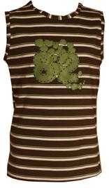 Bars Womens Sleeveless Shirt Green 37 128cm
