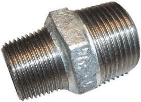 "STP Fittings Reducing Nipple Cast Iron Zinc 1""x1/2""M"