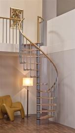 Mediniai laiptai Wave plus, bukas, 11 pakopų