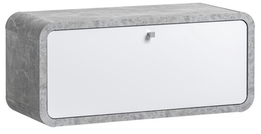ASM Wally Hanging Cupboard Type 06 Gray/Glossy White