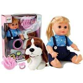 Кукла-маленький ребенок Interactive Doll With Puppy