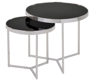 Signal Meble Delia II Coffee Table Set Black