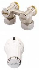 Termostatinė galvutė ir ventilis Danfoss kampinis, 1/2IN, 013G5090