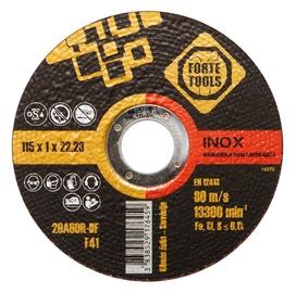 Lõikeketas Forte Tools 115x1,0x22,23 mm, Inox