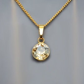 Diamond Sky Pendant Classic Golden Shadow With Swarovski Crystals