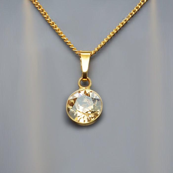 Diamond Sky Pendant Classic Golden Shadow With Swarovski Crystals