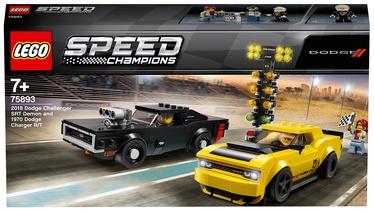 Konstruktor LEGO® Speed Champions 2018 Dodge Challenger SRT Demon And 1970 Dodge Charger R/T 75893, 478 tk